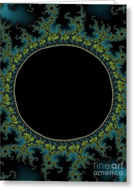 Solar Eclipse Digital Greeting Cards - E C L I P S E Greeting Card by Charles Dobbs