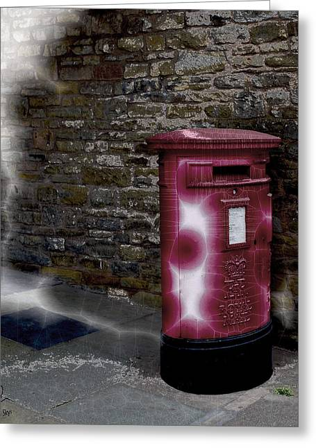 Pillar Box Greeting Cards - E-Mail Greeting Card by Pennie  McCracken