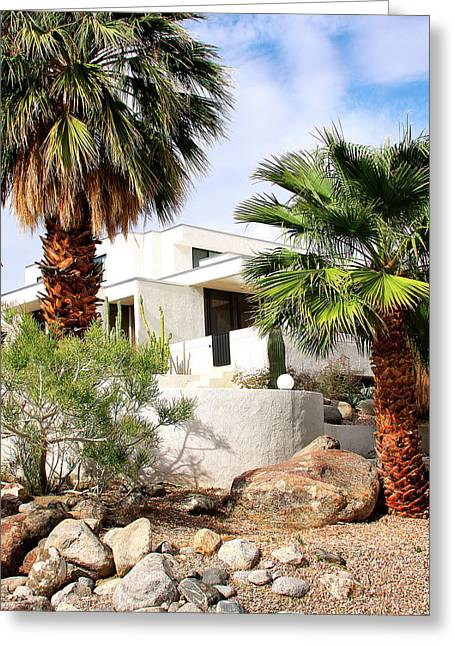 Featured Photo Greeting Cards - E. STEWART WILLIAMS HOME Palm Springs Greeting Card by William Dey