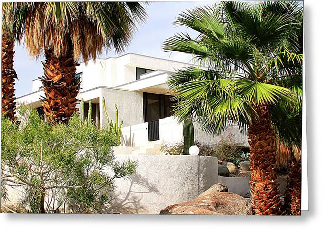 E. STEWART WILLIAMS HOME Palm Springs Greeting Card by William Dey