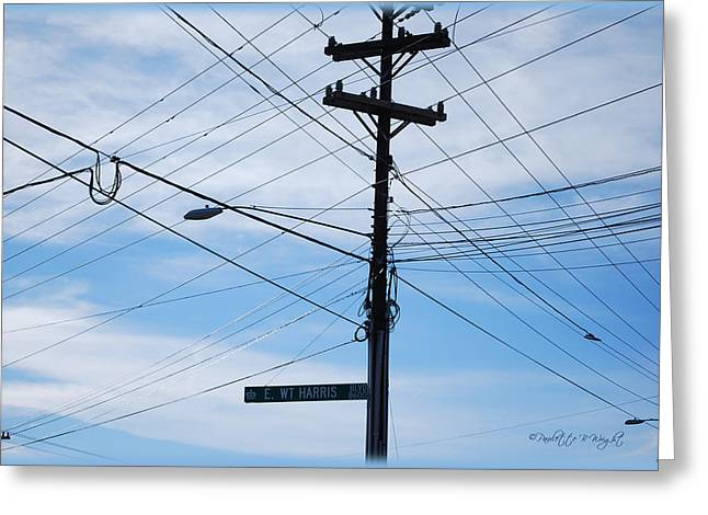 E WT Harris Blvd - Charlotte Greeting Card by Paulette B Wright