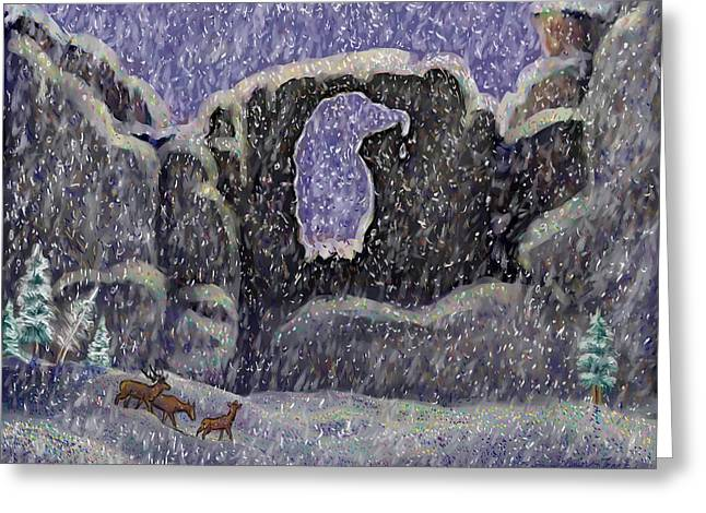 Arch Pastels Greeting Cards - Eagle Arch of Wyoming Greeting Card by Dawn Senior-Trask