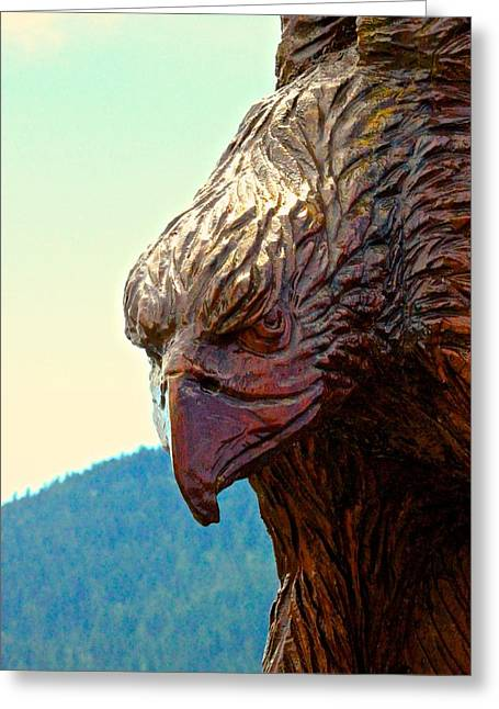 Eagle Greeting Card by Brian Sereda