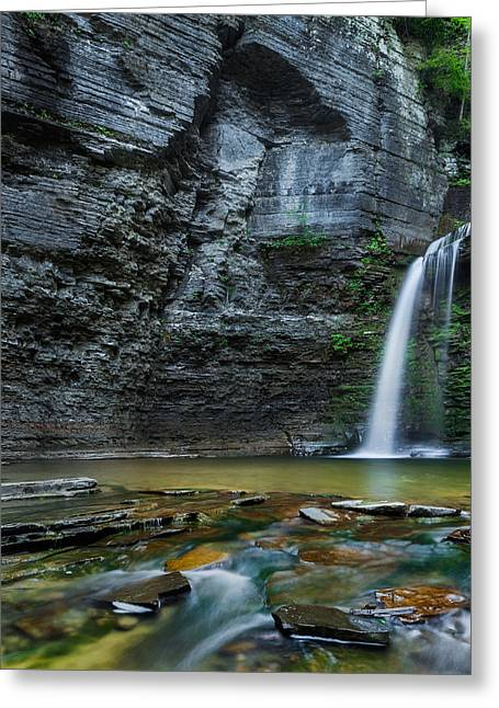 Seneca Valley Greeting Cards - Eagle Cliff Falls Greeting Card by Bill  Wakeley