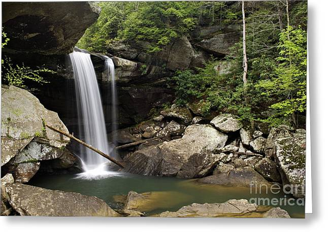 Ledge Greeting Cards - Eagle Falls - D002751 Greeting Card by Daniel Dempster