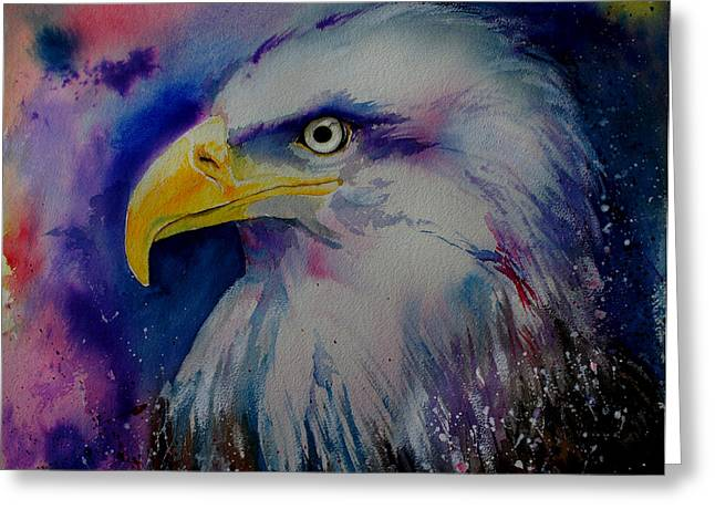 Martial Eagle Greeting Cards - Eagle Greeting Card by Isabel Salvador