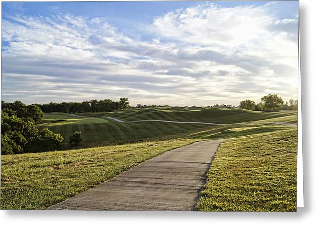 Hartsburg Greeting Cards - Eagle Knoll Golf Club - Hole Four Greeting Card by Cricket Hackmann