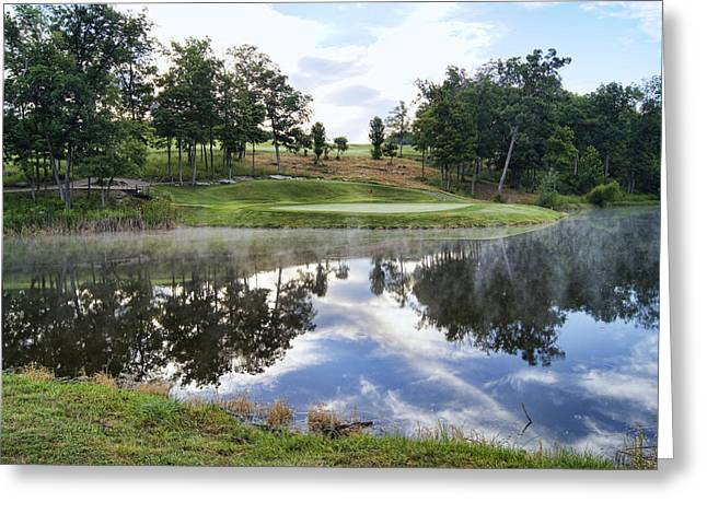 Hartsburg Greeting Cards - Eagle Knoll Golf Club - Hole Six Greeting Card by Cricket Hackmann