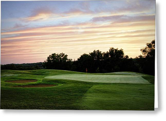 Hartsburg Greeting Cards - Eagle Knoll Golf Club - Hole Ten Greeting Card by Cricket Hackmann