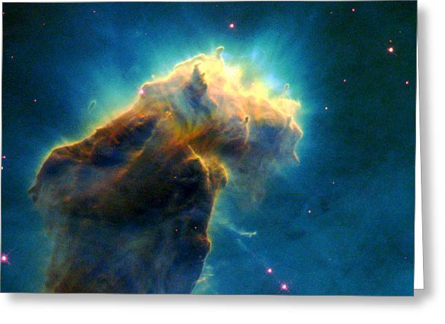 Celestial Pillars.celestial Greeting Cards - Eagle M16-Ngc 6611-Eagle Nebula Greeting Card by Science Source