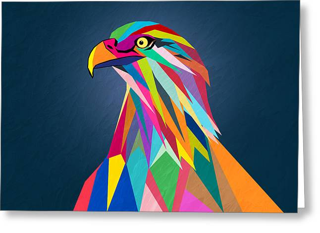 Eagle Greeting Card by Mark Ashkenazi