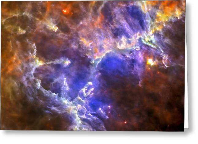 Eagle Nebula Greeting Card by Adam Romanowicz