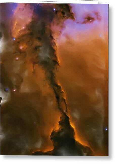 Eagle Drawing Greeting Cards - Eagle Nebula Greeting Card by Ayse Deniz
