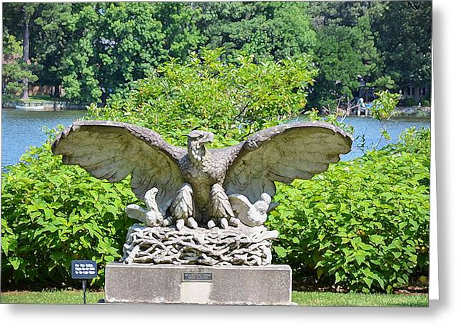 Liberation Greeting Cards - Eagle Statue 1 Greeting Card by Lanjee Chee