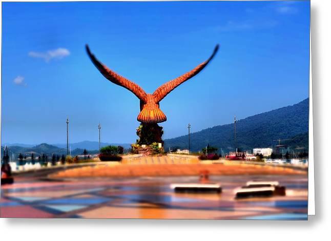 Eagle Statue At Langkawi. Greeting Card by Siti  Syuhada