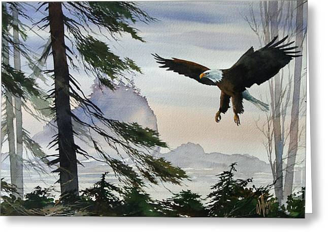 Eagle Images Greeting Cards - Eagle Wilderness Greeting Card by James Williamson