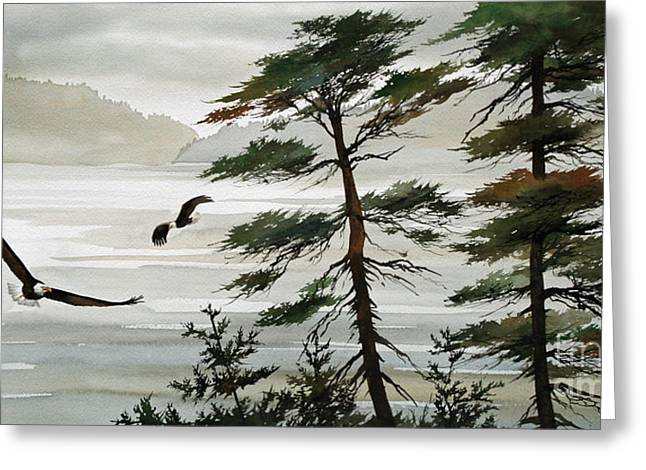 Eagle Images Greeting Cards - Eagles Eden Greeting Card by James Williamson