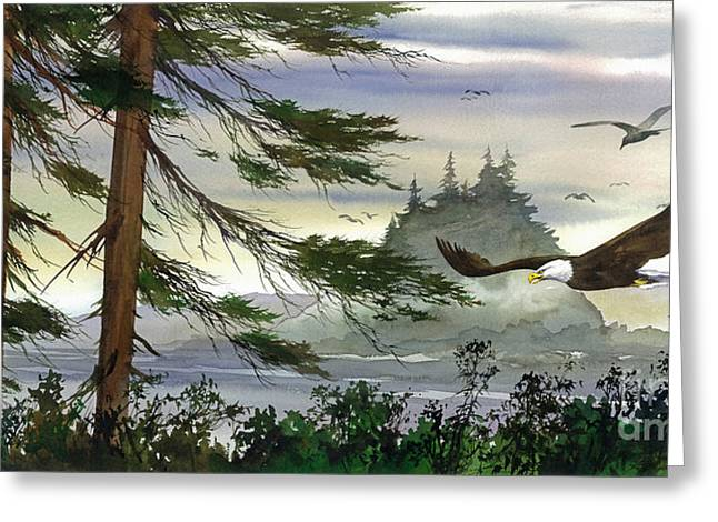 Eagle Images Greeting Cards - Eagles Flight Greeting Card by James Williamson