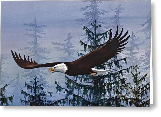 Eagles Freedom Greeting Card by James Williamson
