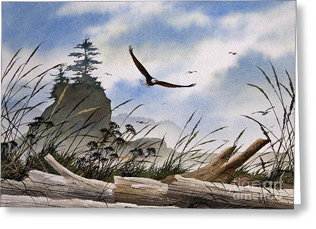 Eagle Images Greeting Cards - Eagles Home Greeting Card by James Williamson