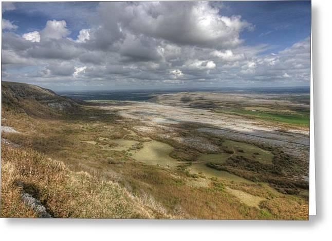 Irish Farm Greeting Cards - Eagles Rock View in The Burren Greeting Card by John Quinn