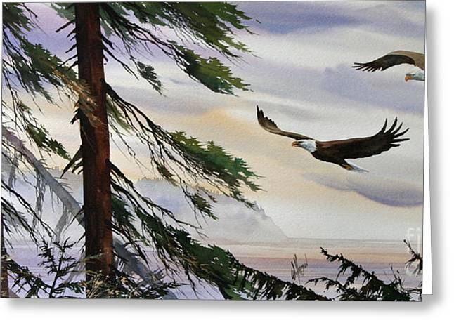 Eagles Romance Greeting Card by James Williamson