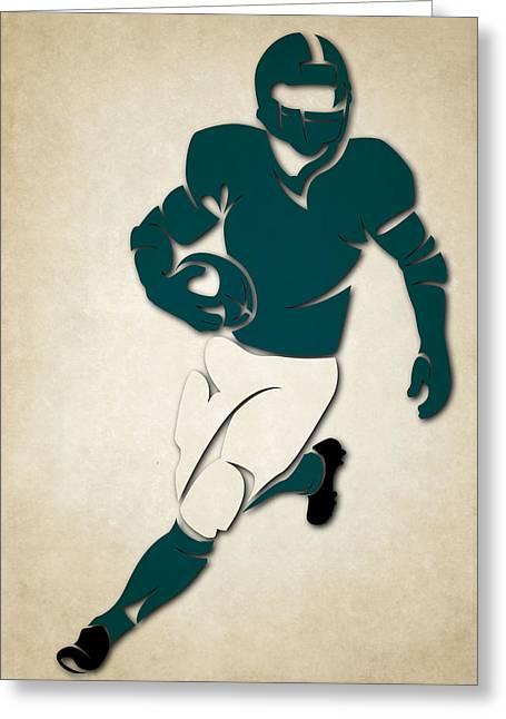 Philadelphia Eagles Greeting Cards - Eagles Shadow Player Greeting Card by Joe Hamilton