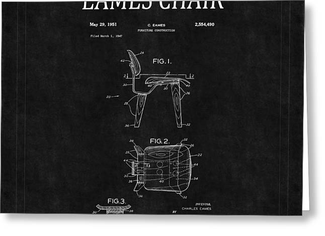 Eames Greeting Cards - Eames Chair Patent 2 Greeting Card by Andrew Fare