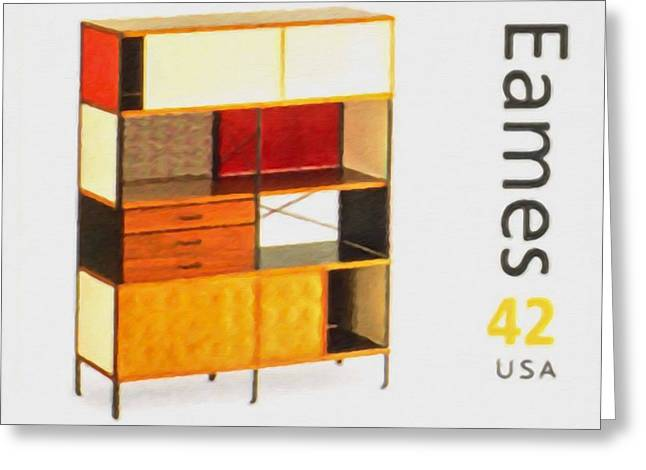 """""""sliding Doors"""" Greeting Cards - Eames Storage Unit Greeting Card by Lanjee Chee"""