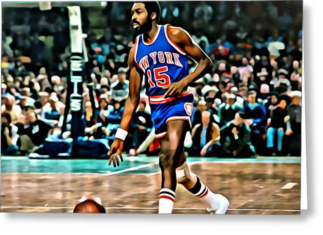 Knicks Photographs Greeting Cards - Earl Monroe Greeting Card by Florian Rodarte