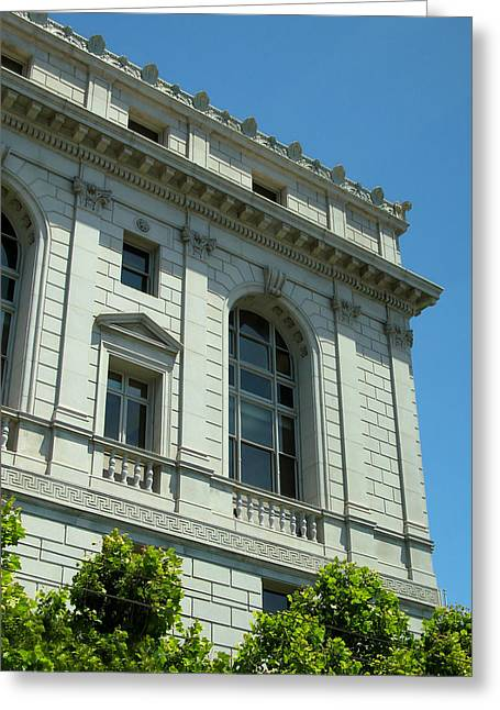 Chief Justice Greeting Cards - Earl Warren Building - San Francisco Greeting Card by Connie Fox