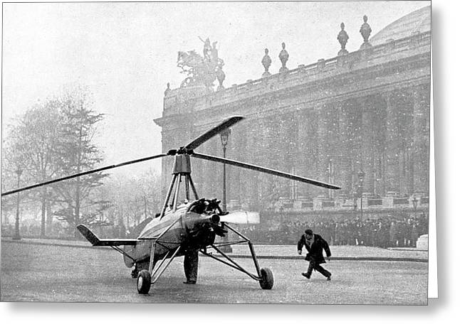 Early 20th Century Autogyro Greeting Card by Cci Archives