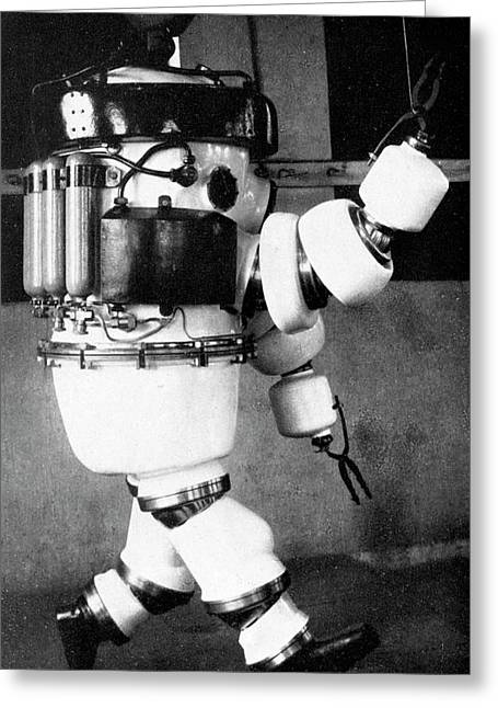 Early 20th Century Diving Suit Greeting Card by Cci Archives