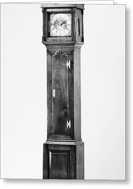 1750s Greeting Cards - Early American Clock Greeting Card by Granger
