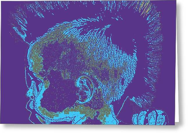 Indian Ancestry Greeting Cards - Early Ancestry Micro Me Portrait 14 Greeting Card by Feile Case