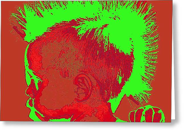 Indian Ancestry Greeting Cards - Early Ancestry Micro Me Portrait 5 Greeting Card by Feile Case