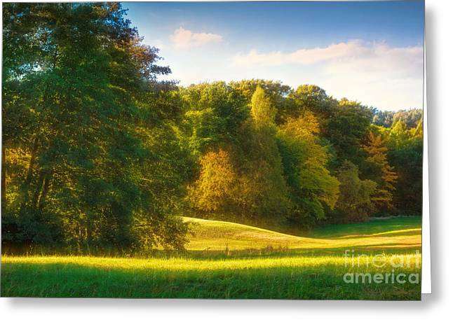 Late-summer Greeting Cards - Early Autumn Glow Greeting Card by Lutz Baar