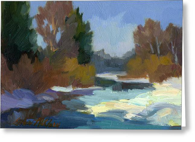 Pacific Greeting Cards - Early Autumn Snow Greeting Card by Diane McClary
