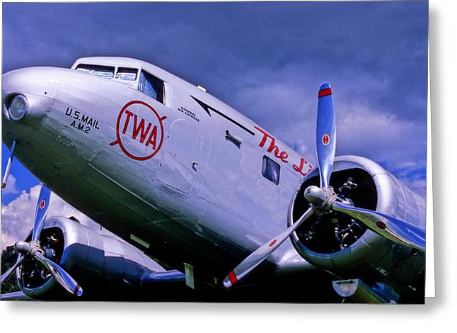 Multi-engine Greeting Cards - Early Aviation Greeting Card by Cyril Furlan