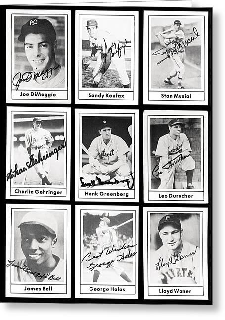 Detroit Legends Greeting Cards - Early Baseball Legends Greeting Card by Daniel Hagerman
