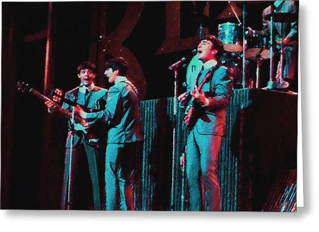 Icons Prints On Canvas Greeting Cards - Early Beatles Greeting Card by John Travisano