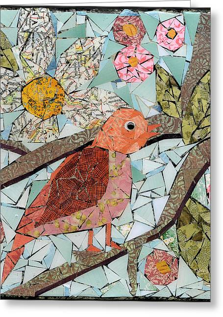 Chihuahua Artwork Greeting Cards - Early Bird #2 Greeting Card by Jen Kelly Hirai