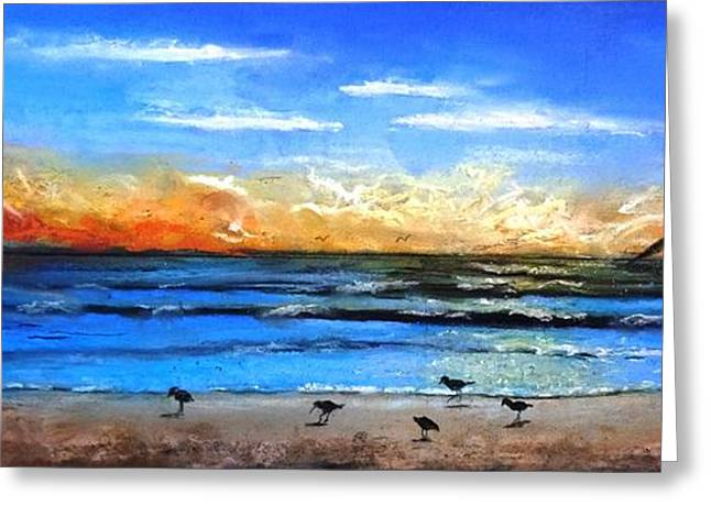 Sandy Beaches Pastels Greeting Cards - Early Bird Special Greeting Card by Vincent Mancuso