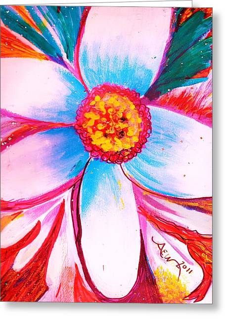 Les Mixed Media Greeting Cards - Early Bloomer Greeting Card by Anne-Elizabeth Whiteway