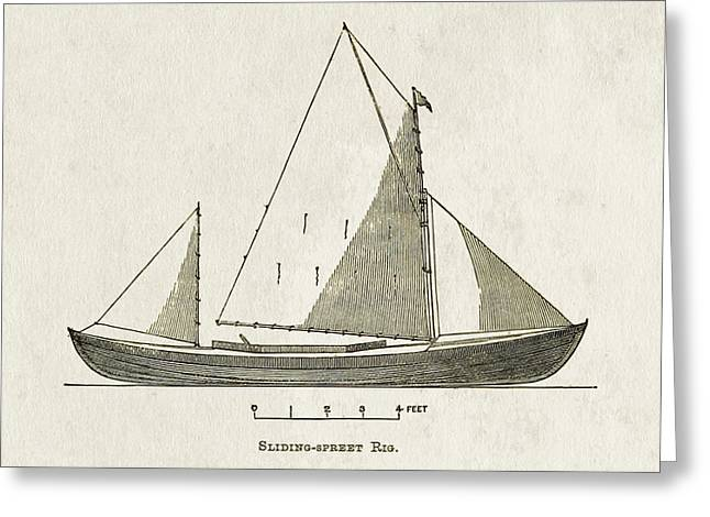 Canoe Greeting Cards - Early Canoe Sketch Greeting Card by Gary Bodnar