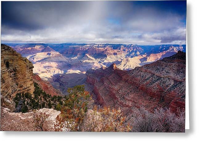 Greeting Cards - Early Clouds Over Hopi Point Greeting Card by Lisa  Spencer
