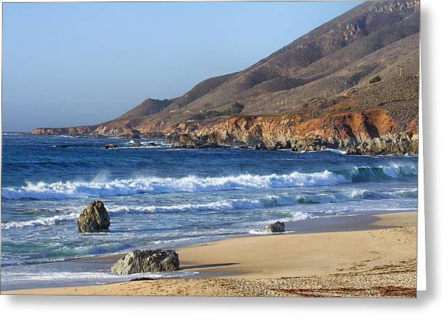 Big Sur Beach Greeting Cards - Early Dusk at Garrapata State Park Greeting Card by Ken Wolter