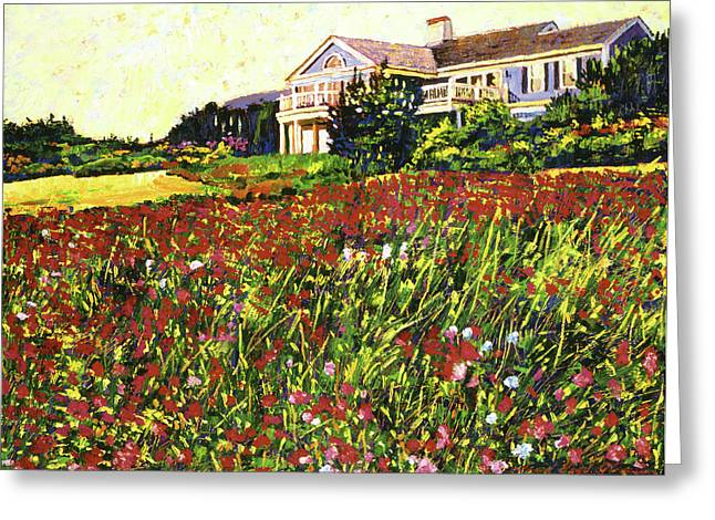 Best Selling Paintings Greeting Cards - Early Evening at Cape Cod Greeting Card by David Lloyd Glover