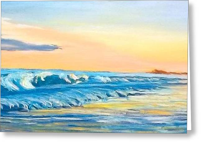 North Shore Pastels Greeting Cards - Early Evening on Carolina Coast Greeting Card by Frank Giordano