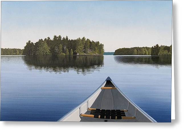 Print Greeting Cards - Early Evening Paddle  Greeting Card by Kenneth M  Kirsch